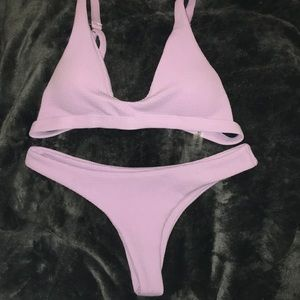 Zaful Light Purple Lavender Bikini